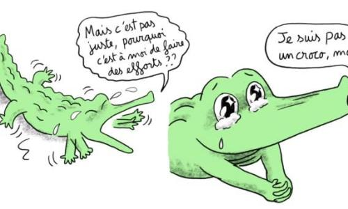 """""""Je suis pas un croco, moi!"""", Détail©projetcrocodiles.tumblr.com"""