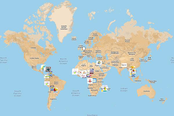 Carte Mondiale des Activités Sociales©N.Coppin/ccas