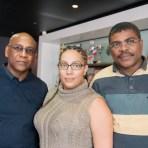 La délégation de la CMCAS Guadeloupe Christian Judiht, Karenne Deher et Michel Damas©Didier Delaine/ccas