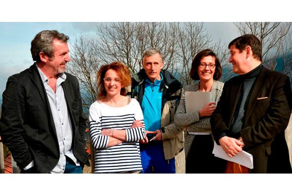 A gauche : Michel Rimboud, président de la CMCAS Pays de Savoie, à droite : Patrick Kanner, ministre de la ville, de la jeunesse et des sports © Elise Rebiffé