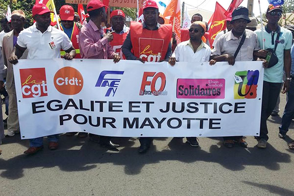 Manifestation à Mayotte, le 3 octobre 2015 © DR