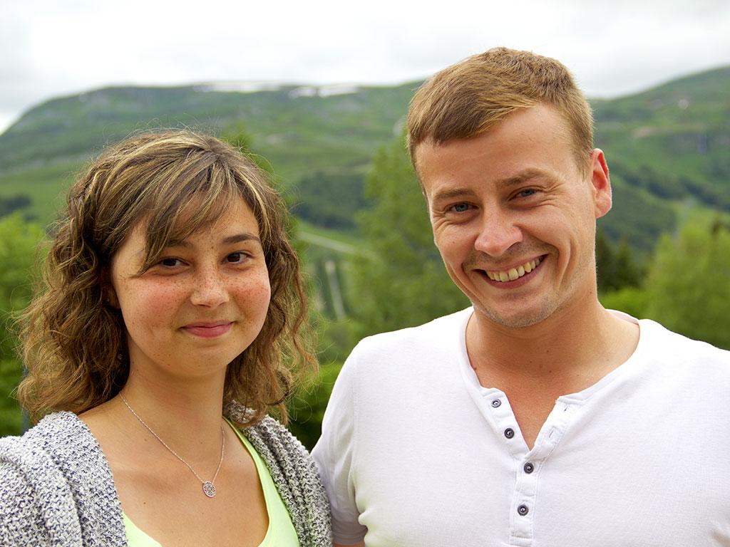 Fanny Mahé et Pierre-Antoine Lecomte, technicien ERDF © N.Coppin/ccas