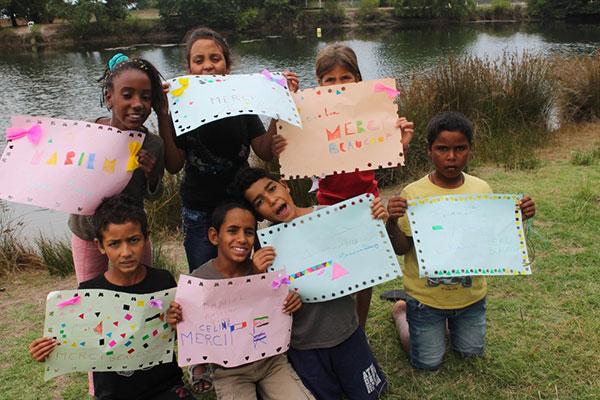 Des enfants sahraouis sont accueillis en colo, puis dans le centre de vacances d'Arès © DR