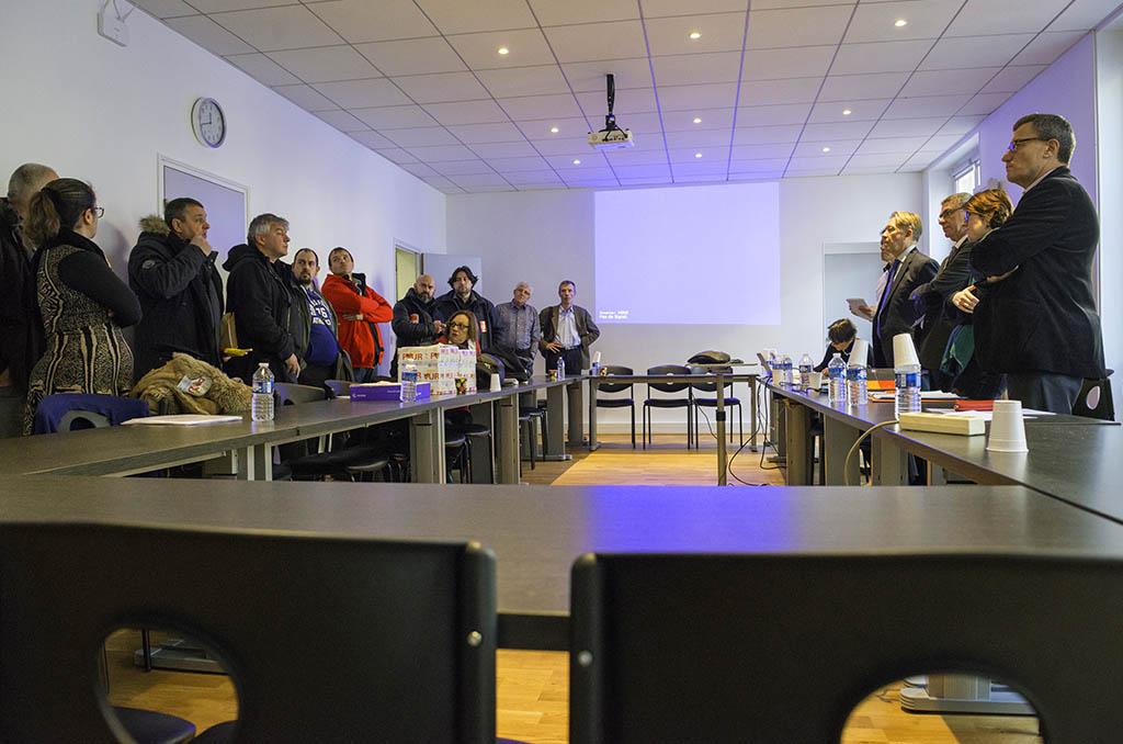 La délégation reçue par les employeurs des IEG lors de la Commission Paritaire de Branche. ©D.Delaine/CCAS