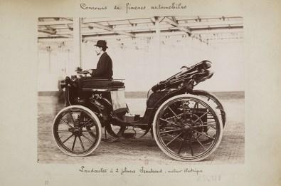 Landaulet électrique de Charles Jeantaud, concours de fiacres automobiles de juin 1898.