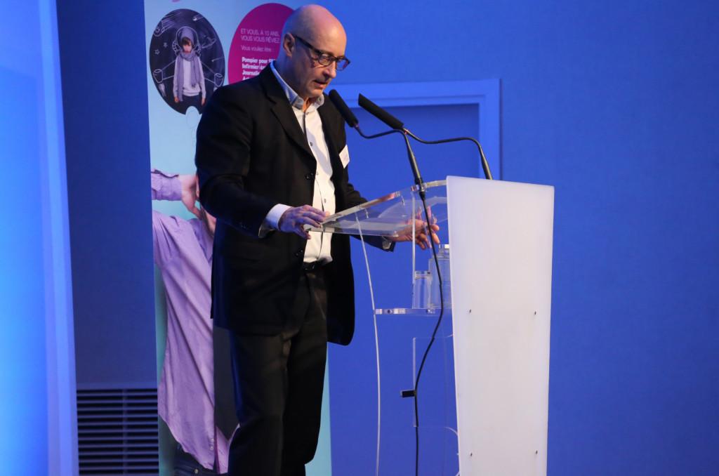 Gilles Canqueteau, président du conseil d'administration de la Camieg, lors des dix ans de la caisse en 2017. ©Laurent Brillet/Camieg