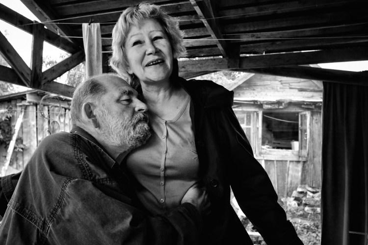 Художник Евгений Голубцов с супругой Татьяной за семейным столом © Олег Климов