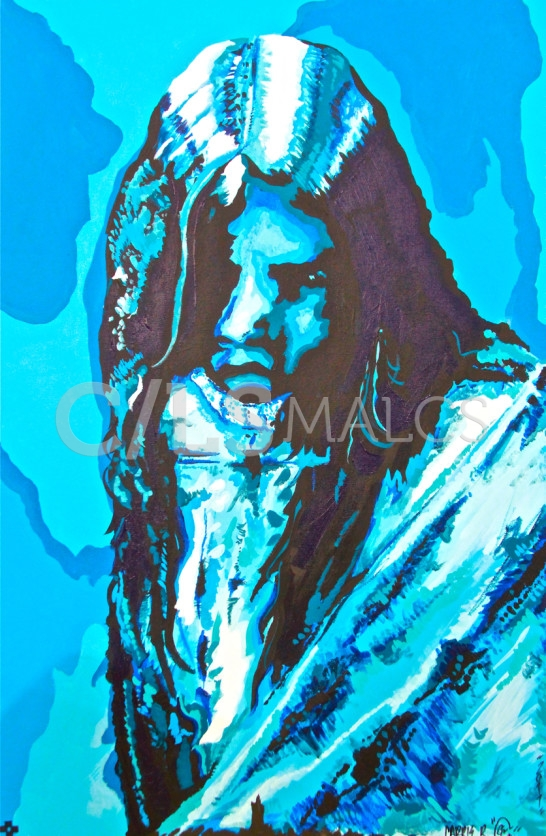 """""""Apache Blue"""" by Carrie Reede Curley (Apache)"""