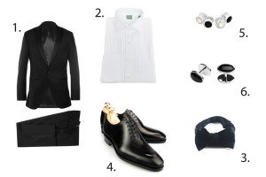 the holiday rig black tie tuxedo outfit grid