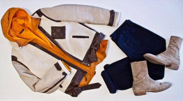 what to wear with a shearling jacket styleforum