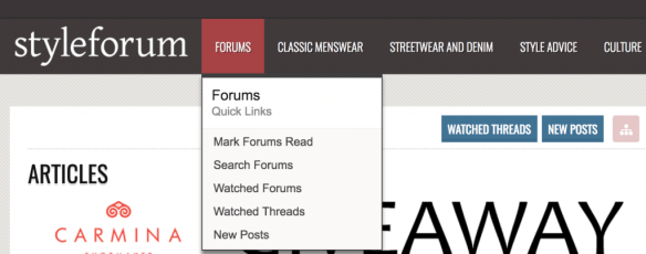 New styleforum interface help FAQ Xenforo