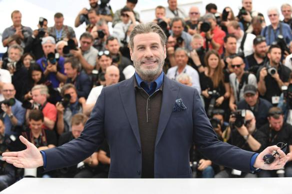 john travolta red carpet cannes gotti