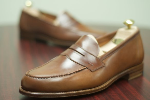 Edward Green Unlined Bourbon Cordovan Duke loafers