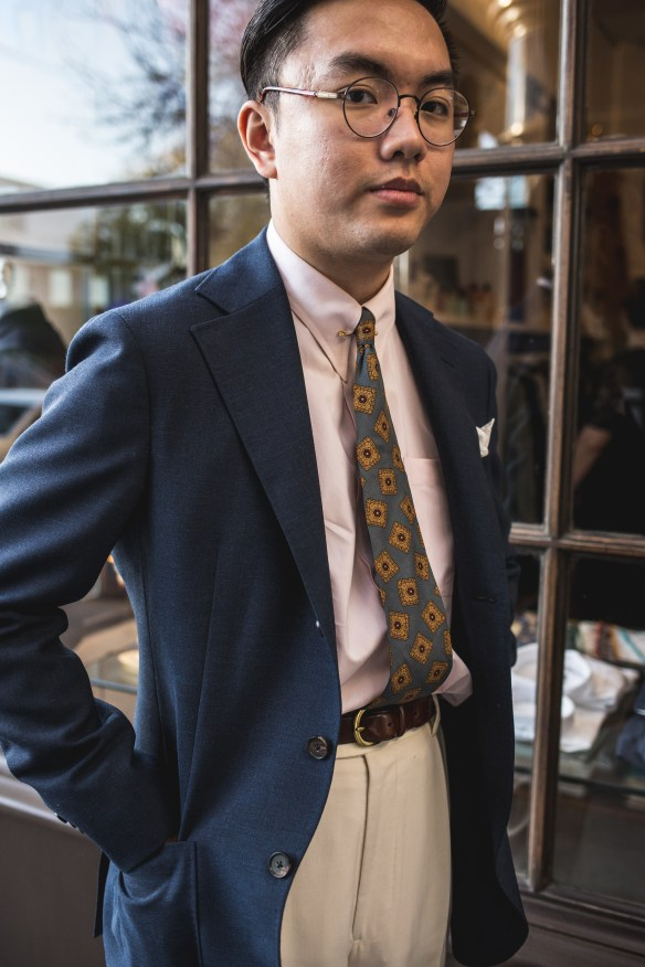 Vintage 80s tie on my friend vintage