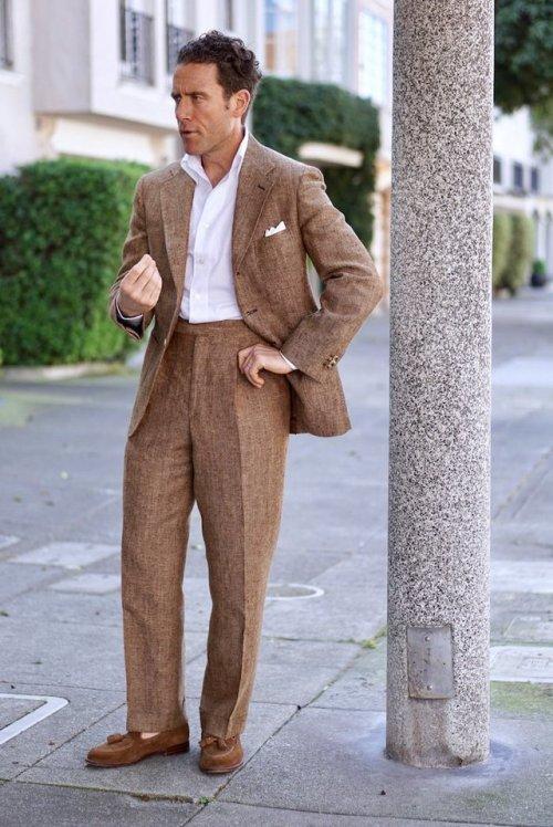 summer tweed suit