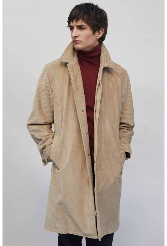 corduroy overcoat beige