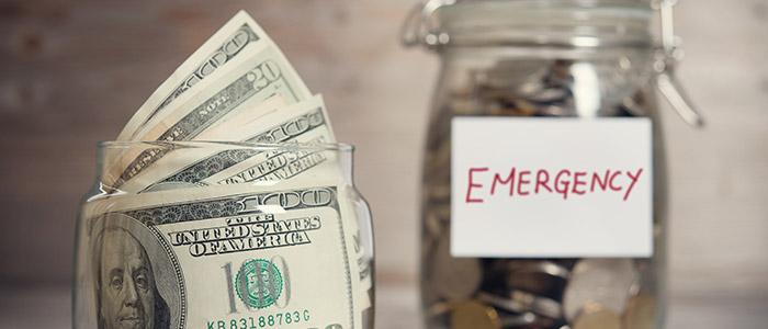 Keep emergency cash.