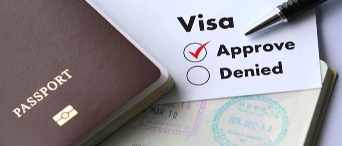 Visa approval.