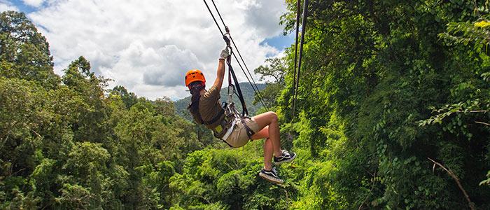 Zip Lining adventure trips, Thailand.