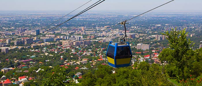 Cable Car Ride in Almaty