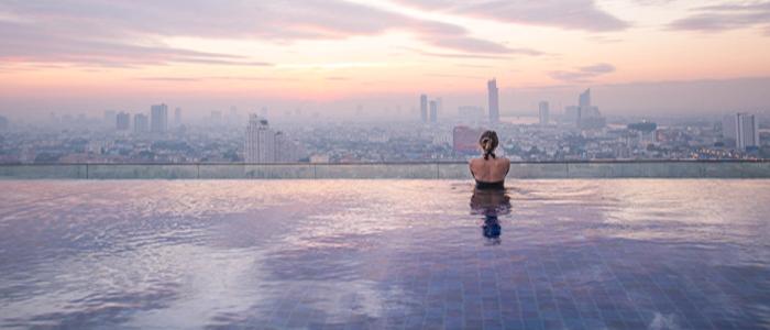 Bangkok Luxury infinity pool