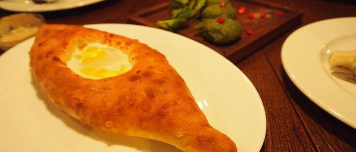 things to do in Georgia country - binge eat the Khachapuri