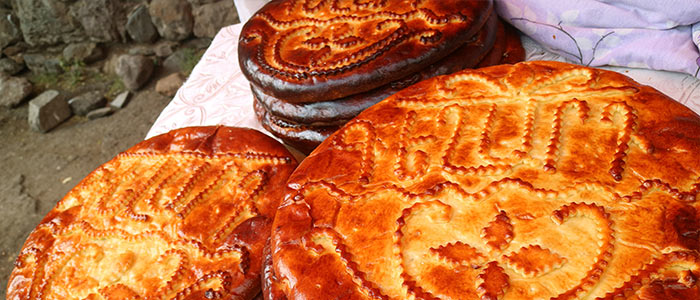 Sweet Bread at the Geghard Monastery