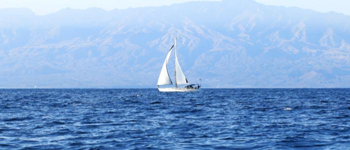 sailing in the sea near sal