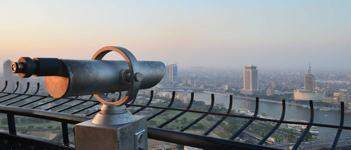 Historic sightseeing from the Cairo Tower
