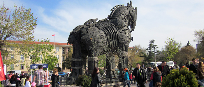 trojan wooden horse