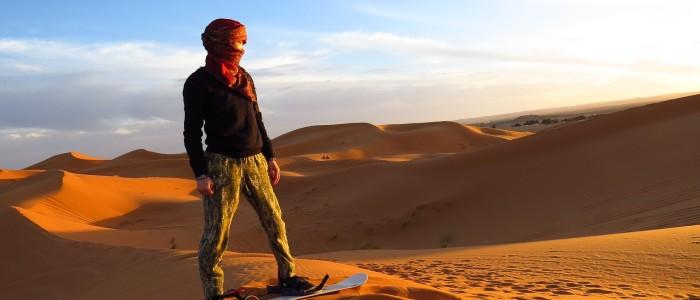 sandboarding sahara desert
