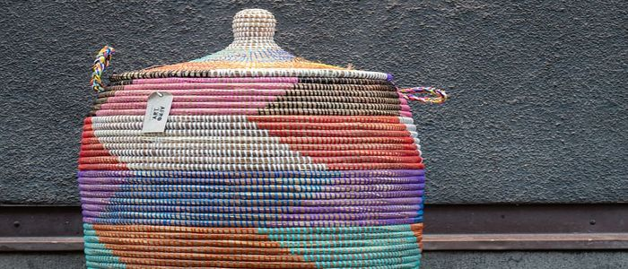 Morocco Shopping Guide: Colorful Woven Baskets