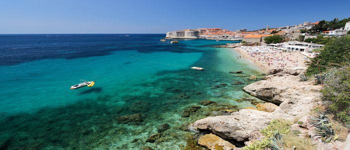 things to do in Croatia - Banje Beach Dubrovnik