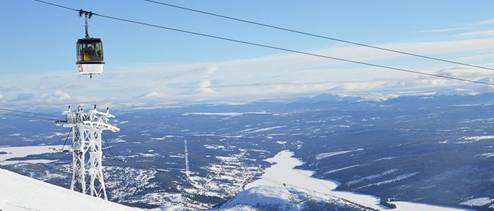 Skiing sweden