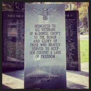 McDowell war memorial
