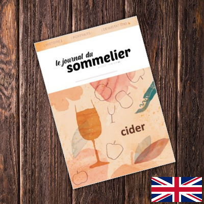 Cover of the Journal du Sommelier on cider in English version