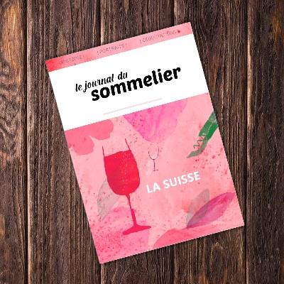 Illustration temporaire de la couverture du livre sur le vignoble suisse du journal du sommelier produit en vente