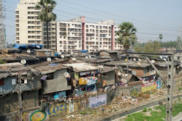 Mumbai India Photojournalism Travel Dharavi Slum Industry Rooftops Houses