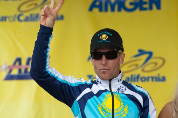 Levi Leipheimer Podium Winner 2009 Pro Cycling Amgen Tour of California Race