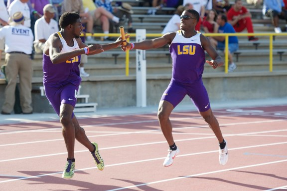 Relay Handoff LSU Track & Field Athletes Sports Tigers
