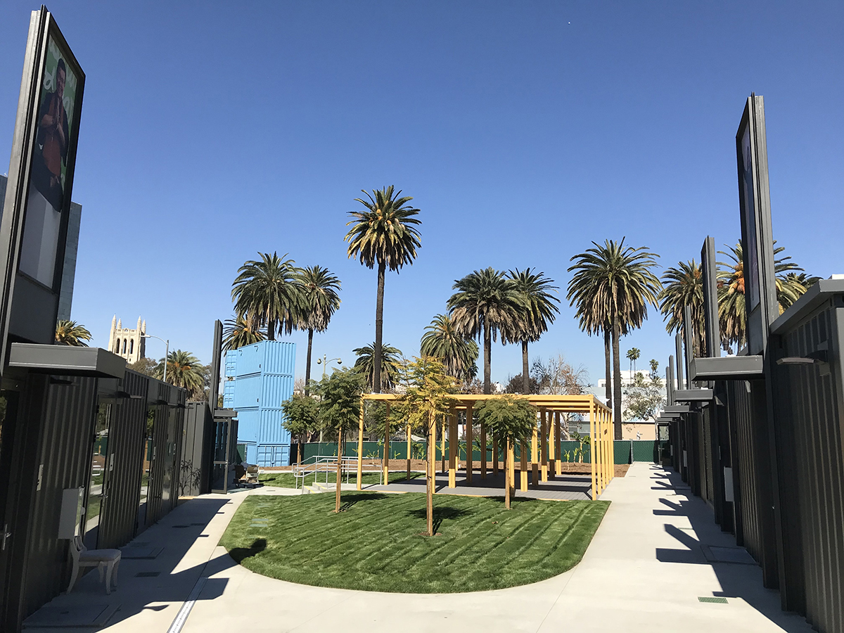 Innovative homeless housing in memory of Max Azria build finished