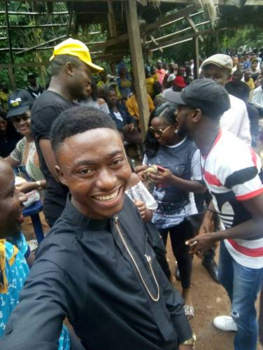 Hon.Chima Obieze of Enugu State House of Assembly with youths in the picnic