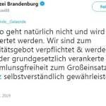 Polizei Brandenburg (Bild: Twitter)