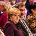 October 28, 2019, Munich, Bavaria, Germany: Dr. ANGELA MERKEL, Chancellor of Germany with Bavarian Minister President M