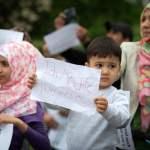 Flüchtlingsprotest PeWoBe Laut Polizeiangaben 130 Flüchtlinge der PeWoBe Unterunft in der Bornitzstr