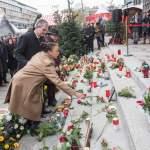 Mit einem stillen Gedenken ist am zweiten Jahrestag 19 12 2018 des Anschlags auf den Berliner Wei