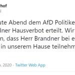 Hausverbot für Stephan Brandner (Bild: Twitter)