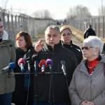 Orban und Pellegrini an der Südgrenze Ungarns (Bild: Foto: MTI – Zsolt Szigetváry)