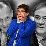 FOTOMONTAGE: Kramp-Karrenbauer kuendigt Ruecktritt als CDU-Chefin an. Annegret Kramp-Karrenbauer gibt auf: Im Praesidium