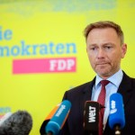 10.02.2020, Berlin, Deutschland – Pressestatement von FDP-Chef Christian Lindner zum AKK-Rueckzug. Foto: Christian Lindn
